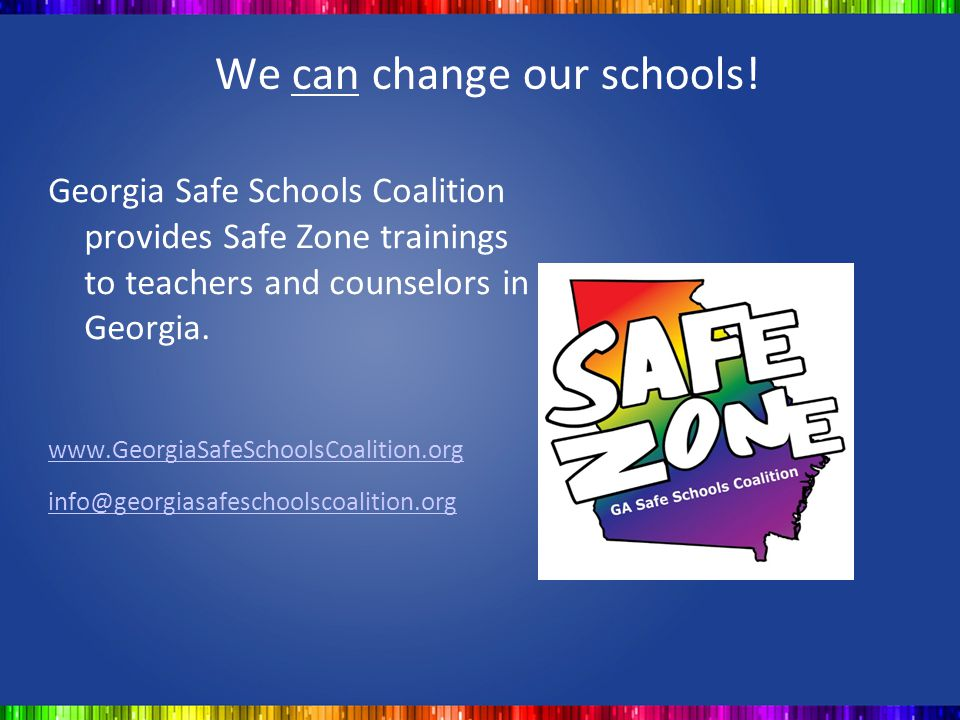 We can change our schools!