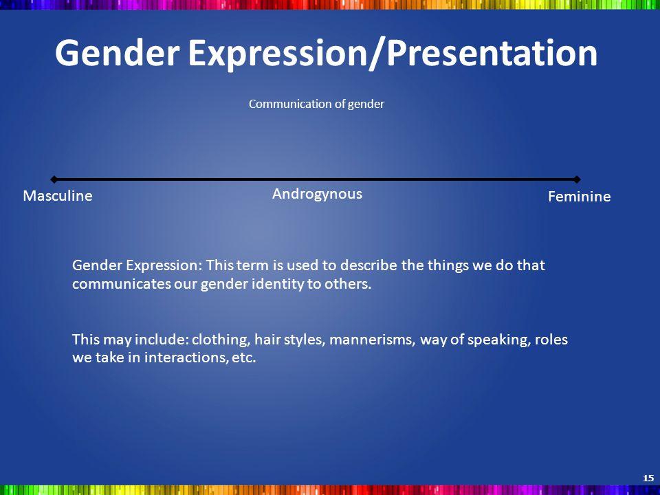 Gender Expression/Presentation