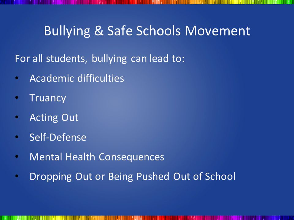 Bullying & Safe Schools Movement