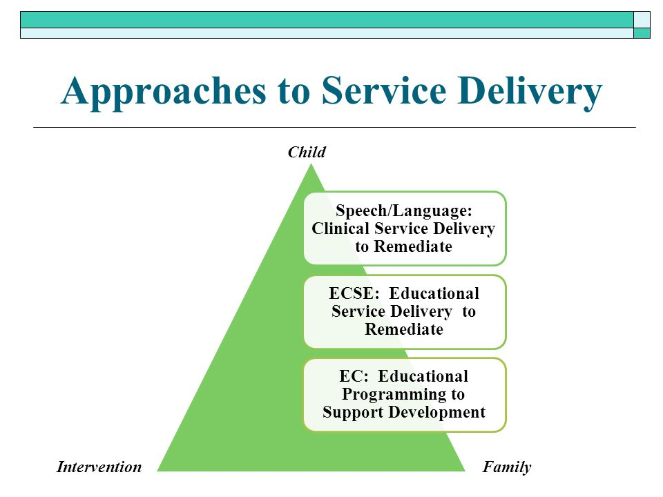 Approaches to Service Delivery