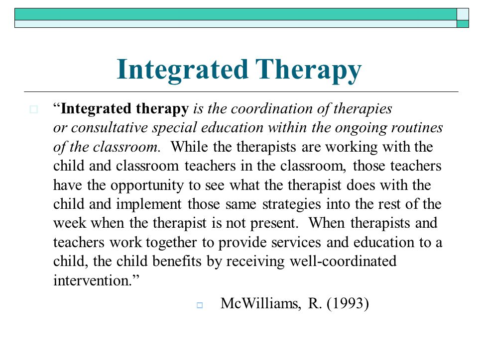 Integrated Therapy