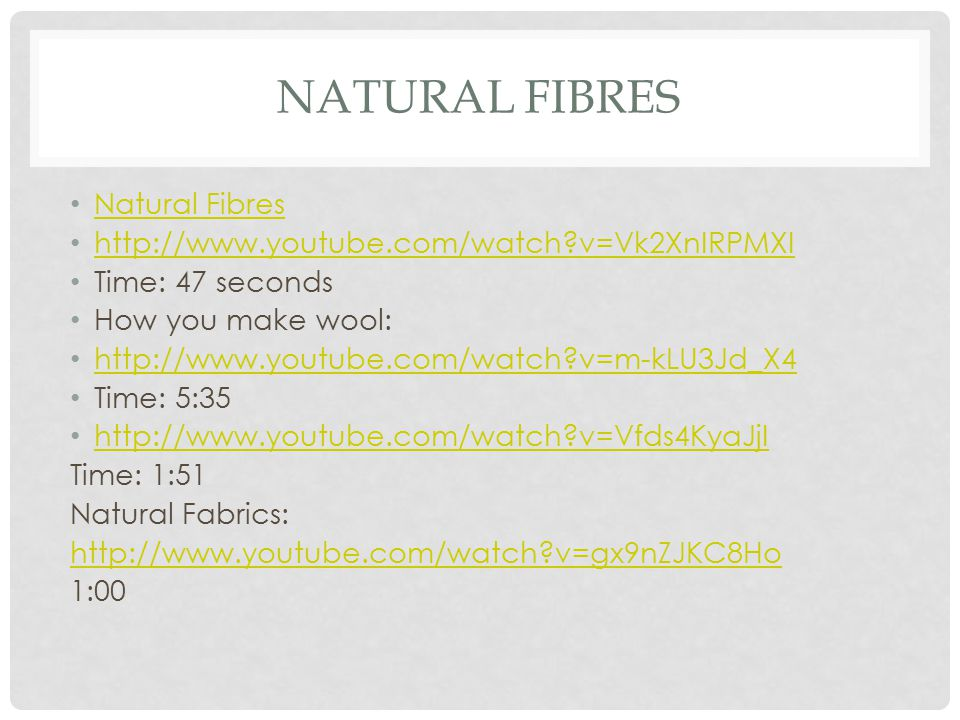 Natural Fibres Natural Fibres