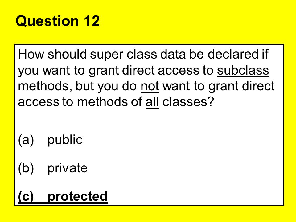 Question 12