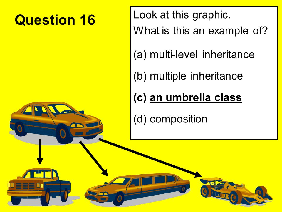 Question 16 Look at this graphic. What is this an example of