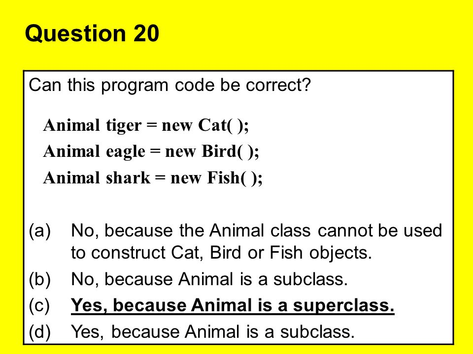 Question 20 Can this program code be correct