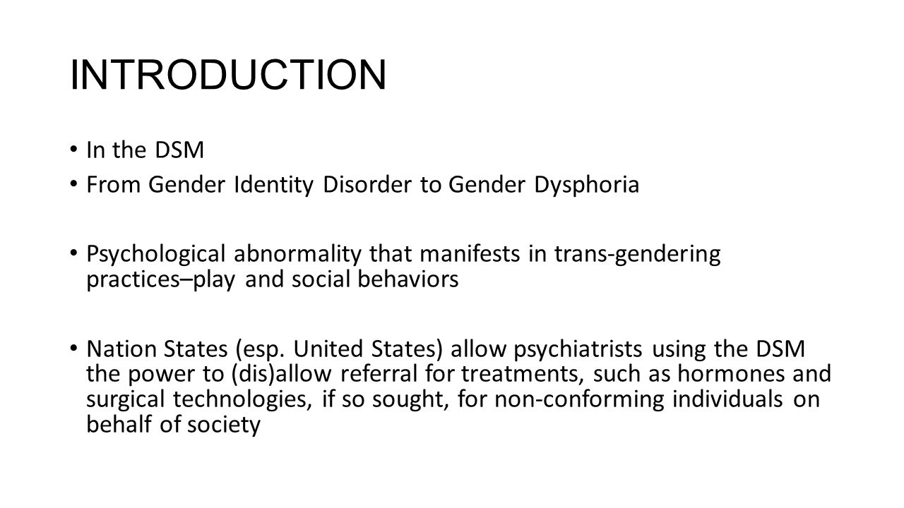 causes of gender identity disorder pdf