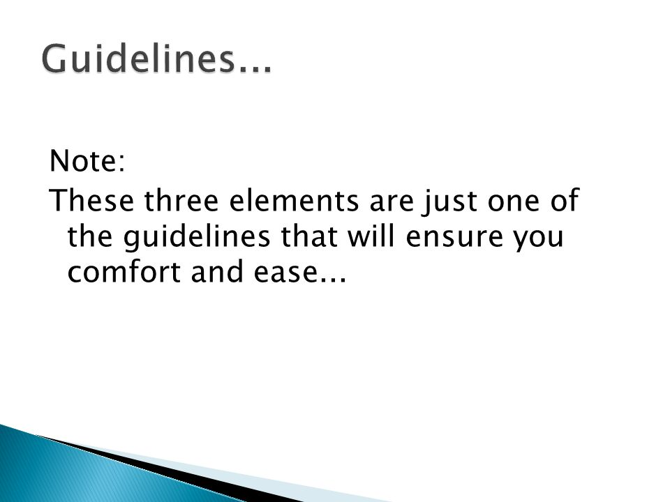 Guidelines...