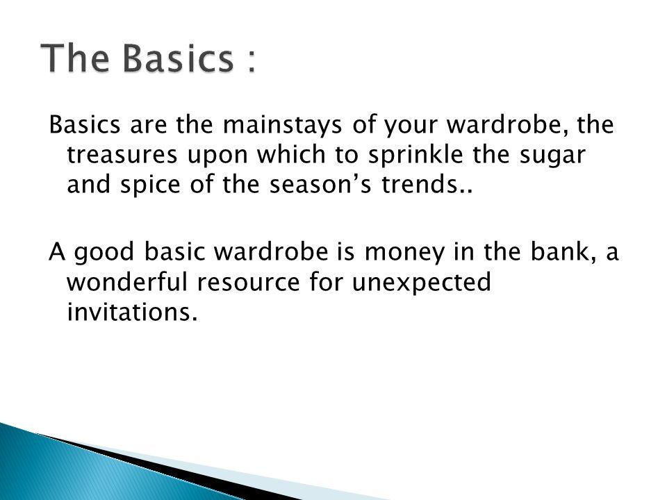 The Basics :