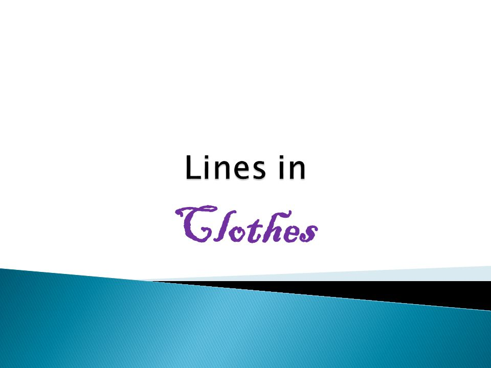 Lines in Clothes