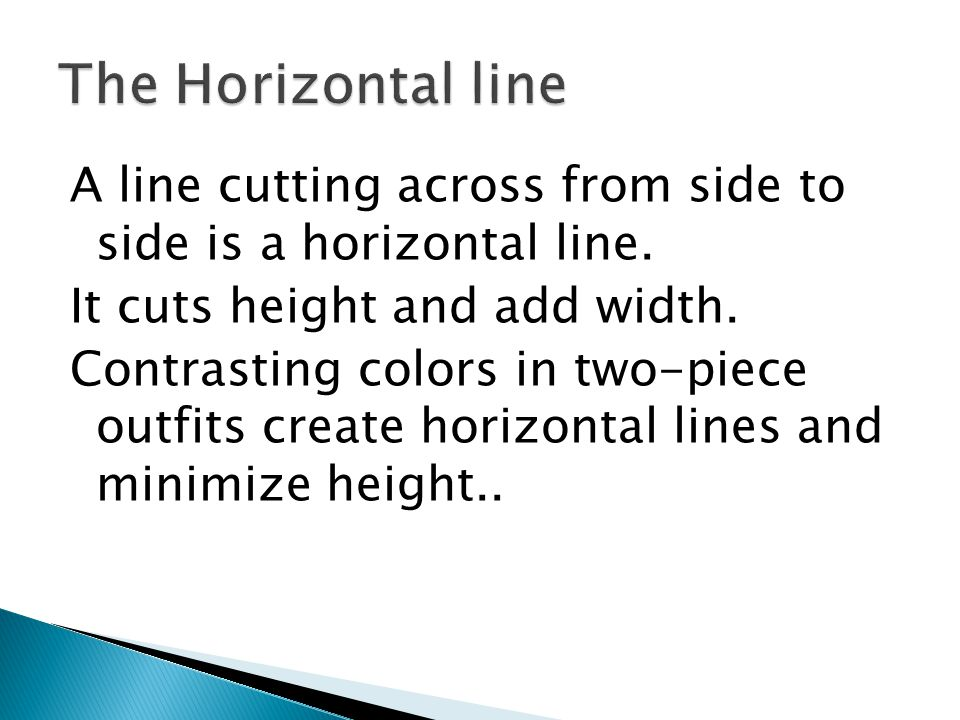 The Horizontal line