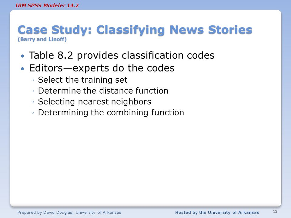 Case Study: Classifying News Stories (Barry and Linoff)