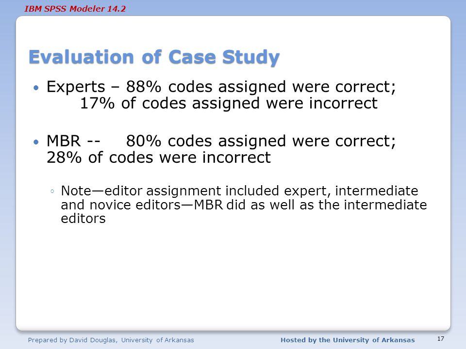 Evaluation of Case Study