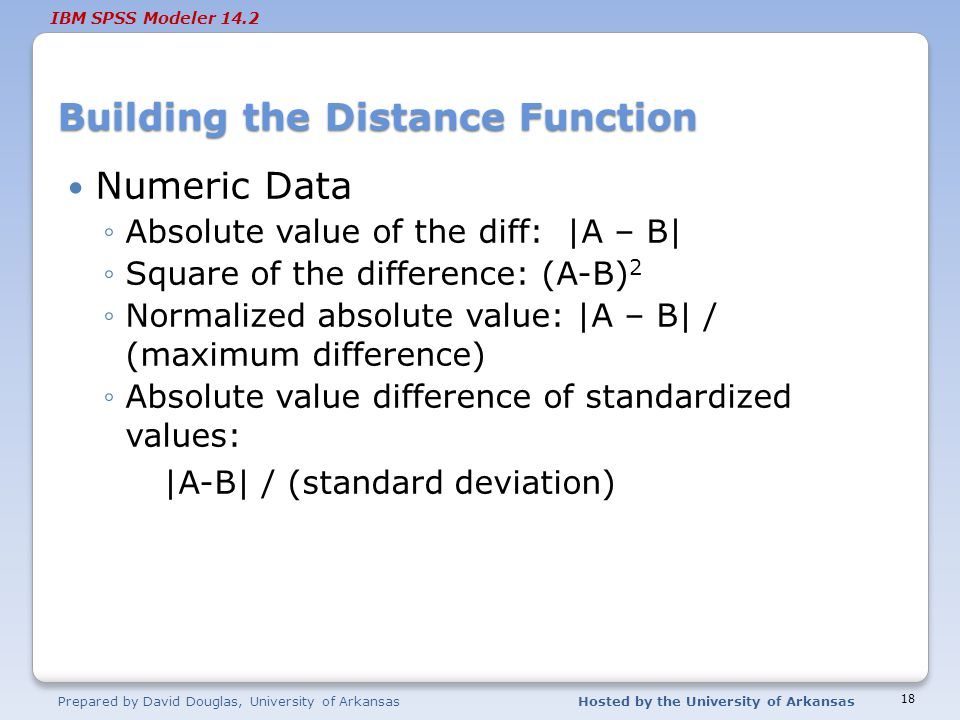 Building the Distance Function