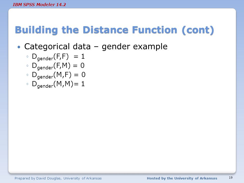 Building the Distance Function (cont)