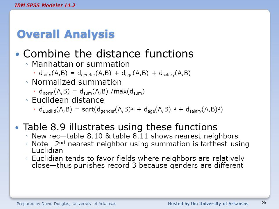Combine the distance functions