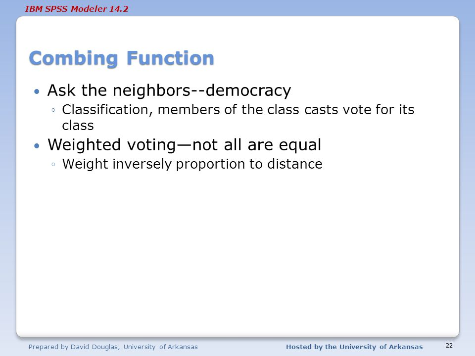 Combing Function Ask the neighbors--democracy
