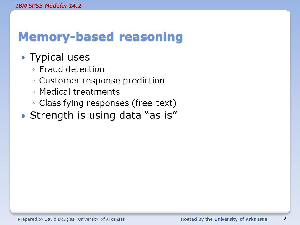 Memory-based reasoning