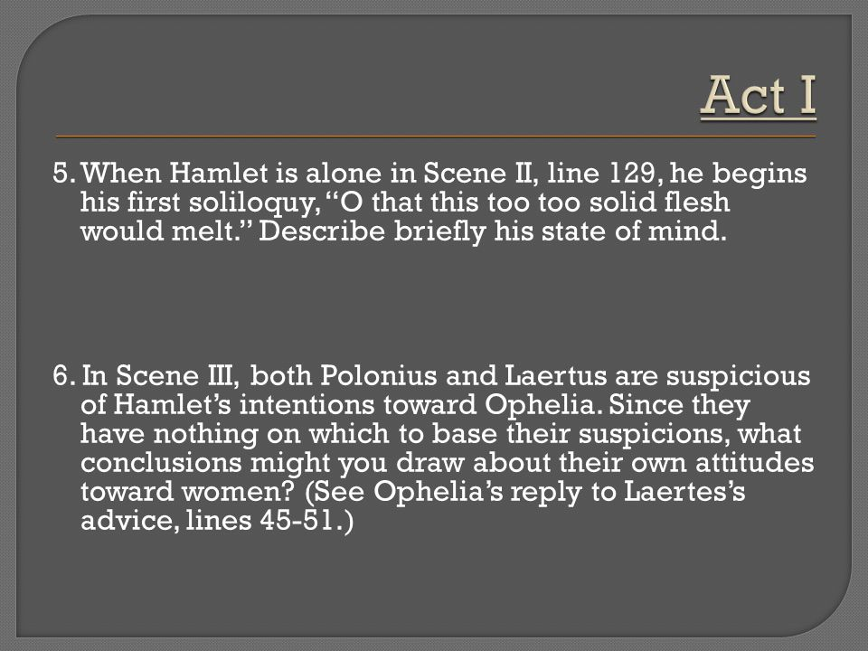 Hamlet's View and Treatment of Women