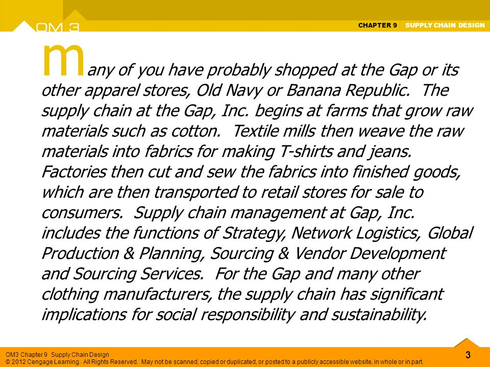 many of you have probably shopped at the Gap or its other apparel stores, Old Navy or Banana Republic.