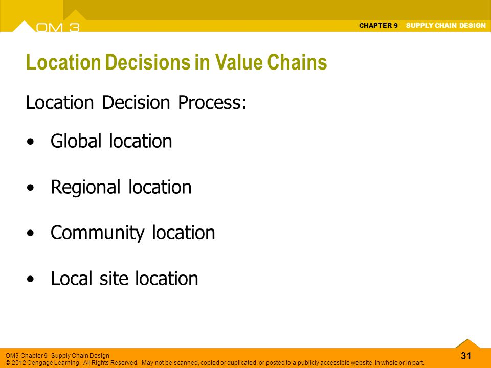 Location Decisions in Value Chains