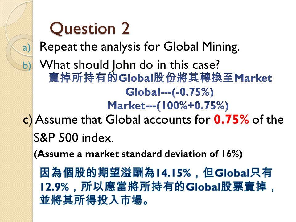 賣掉所持有的Global股份將其轉換至Market