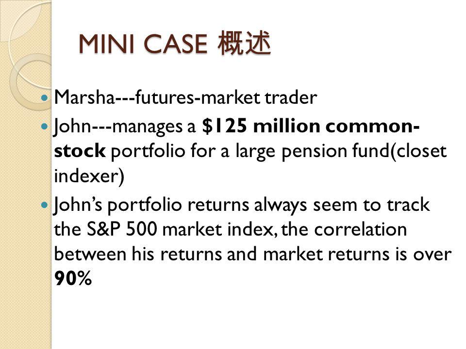 MINI CASE 概述 Marsha---futures-market trader