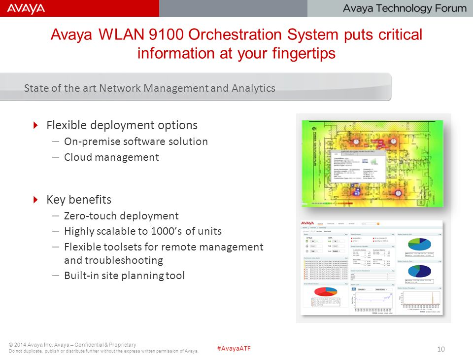 Avaya WLAN 9100 Orchestration System puts critical information at your fingertips