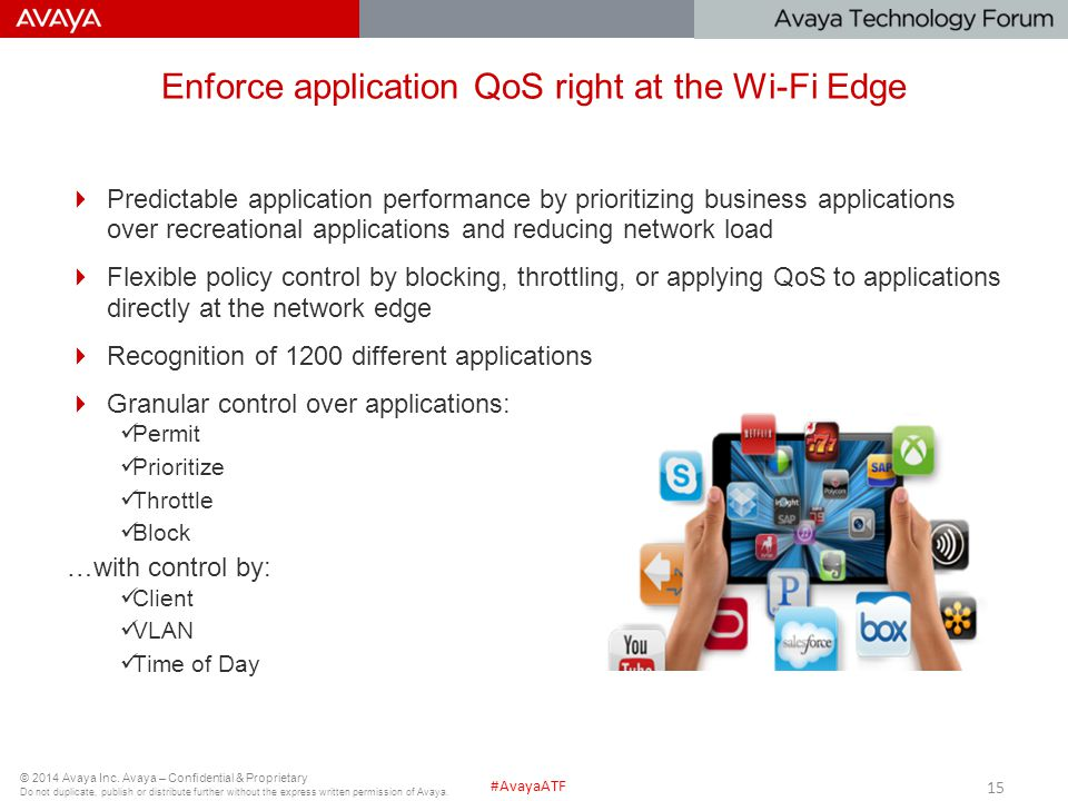 Enforce application QoS right at the Wi-Fi Edge