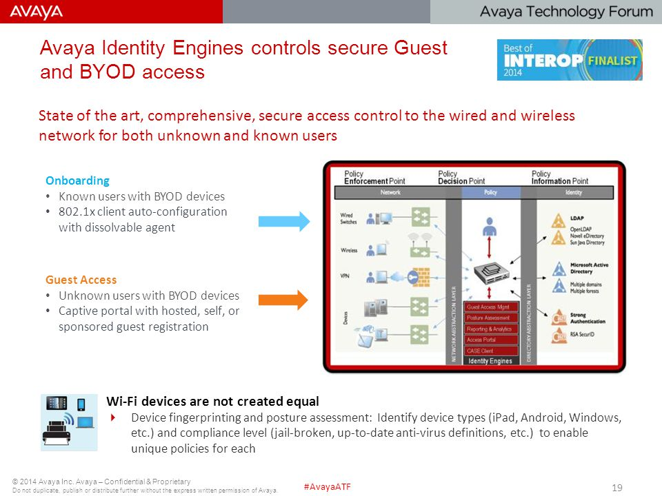 Avaya Identity Engines controls secure Guest and BYOD access