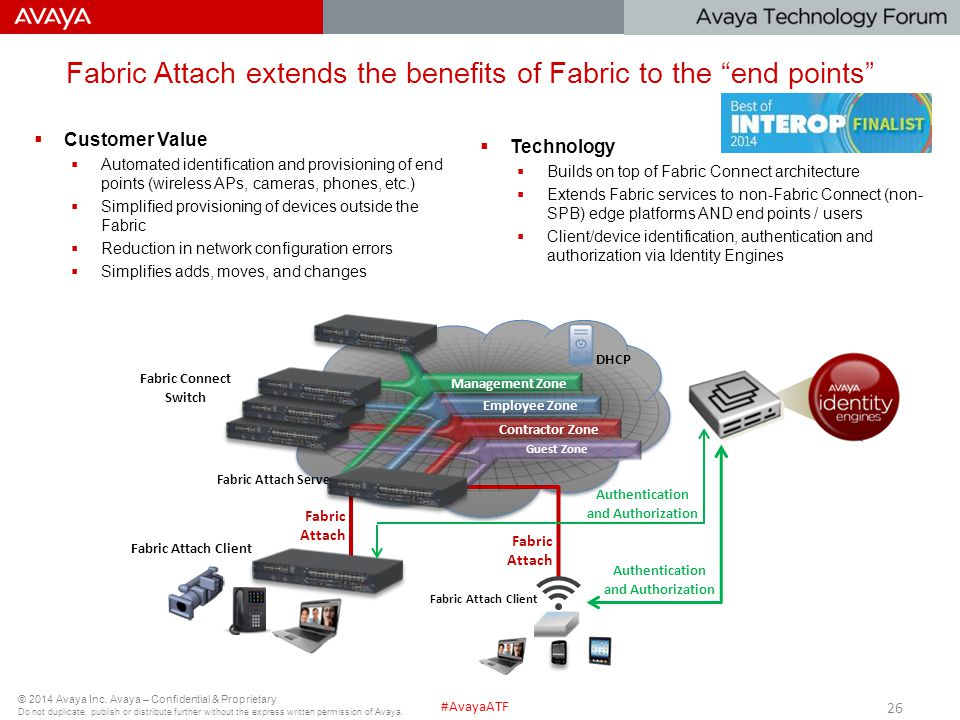 Fabric Attach extends the benefits of Fabric to the end points