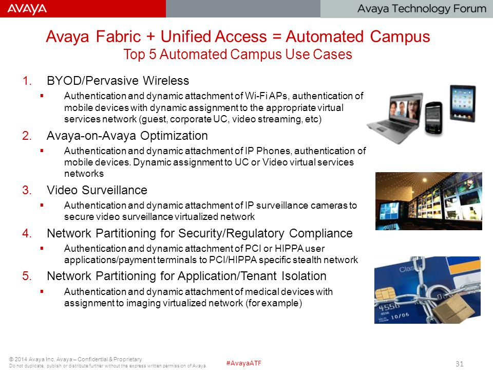 Avaya Fabric + Unified Access = Automated Campus Top 5 Automated Campus Use Cases