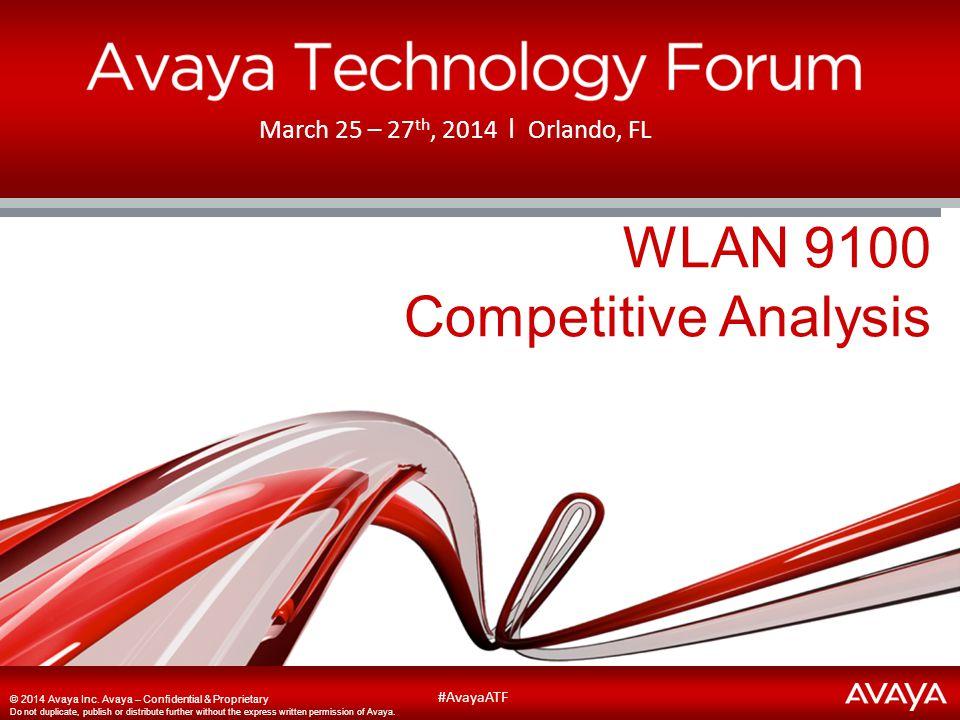 WLAN 9100 Competitive Analysis