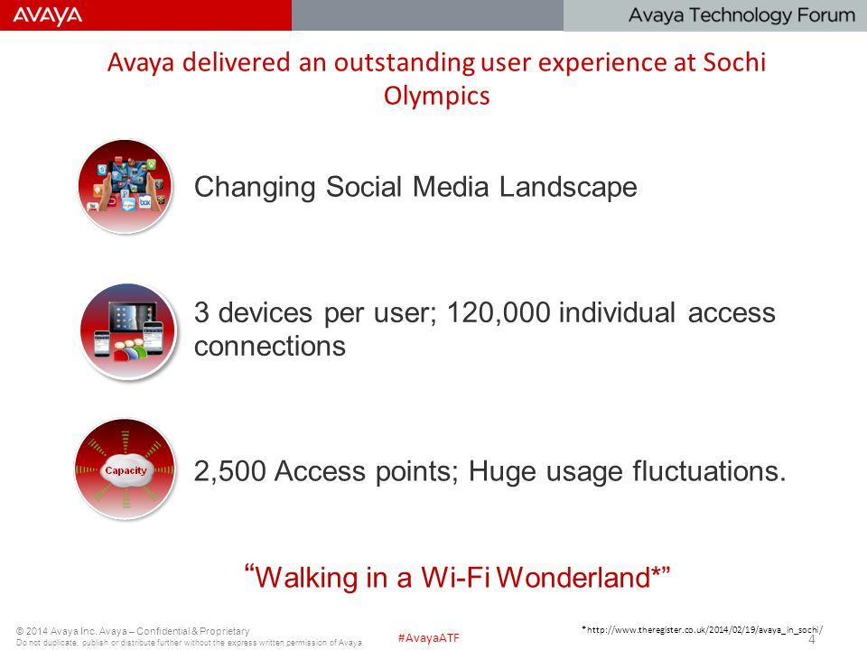 Avaya delivered an outstanding user experience at Sochi Olympics