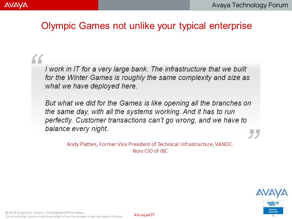 Olympic Games not unlike your typical enterprise