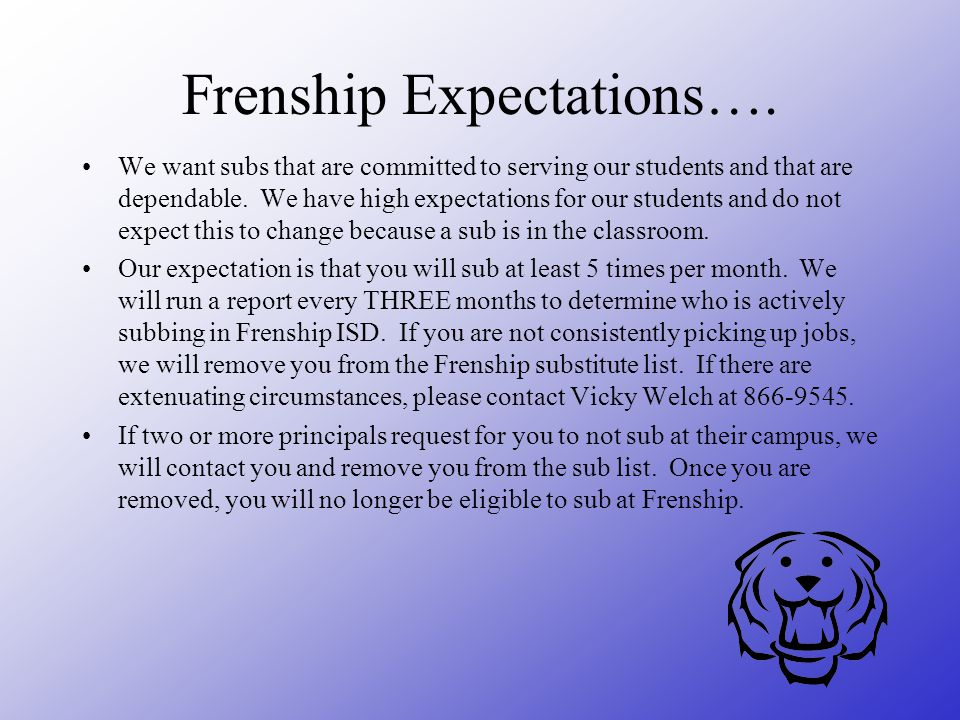 Frenship Expectations….