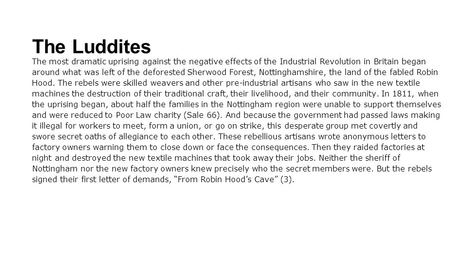 The Luddites