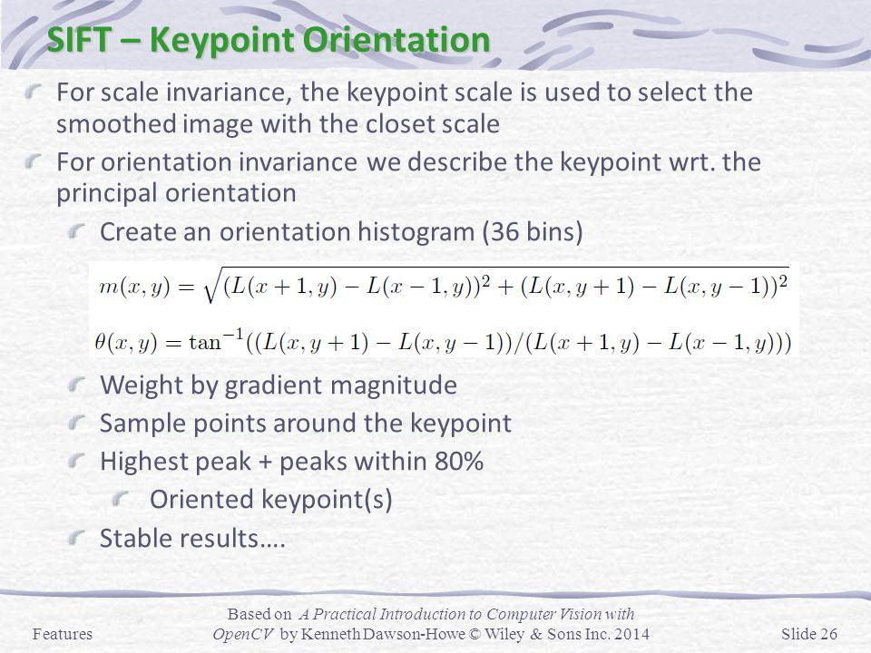 SIFT – Keypoint Orientation
