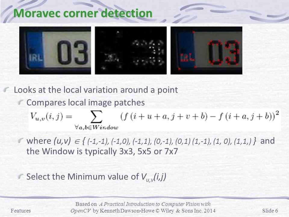 Moravec corner detection