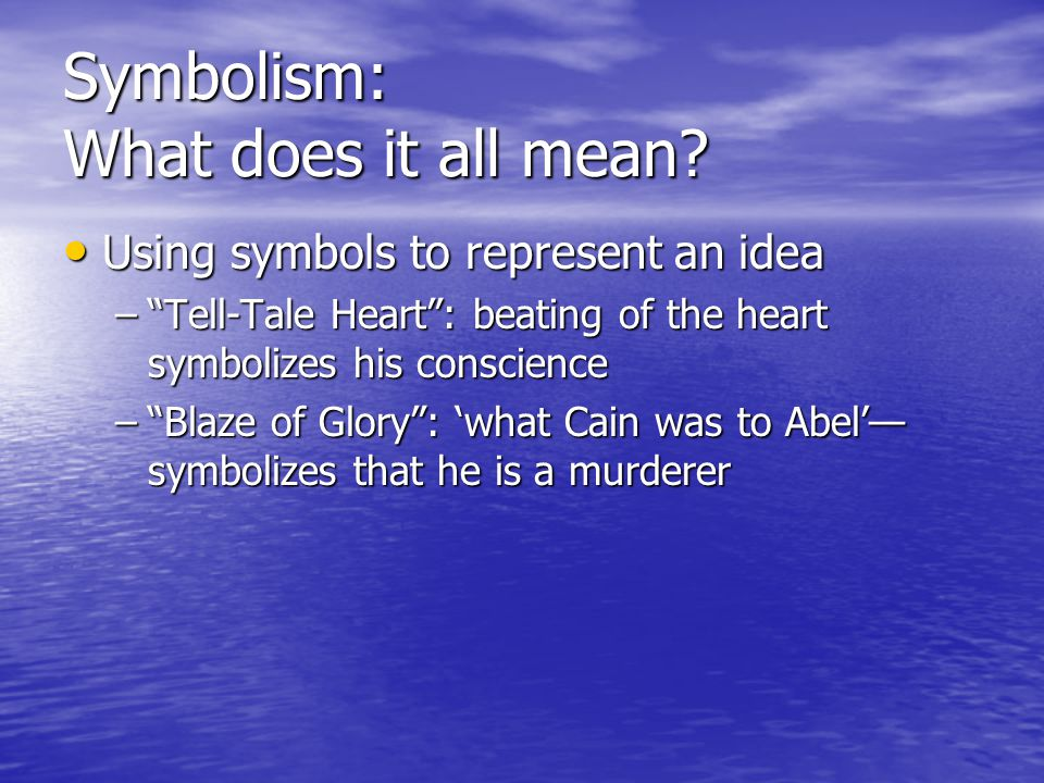 Symbolism: What does it all mean
