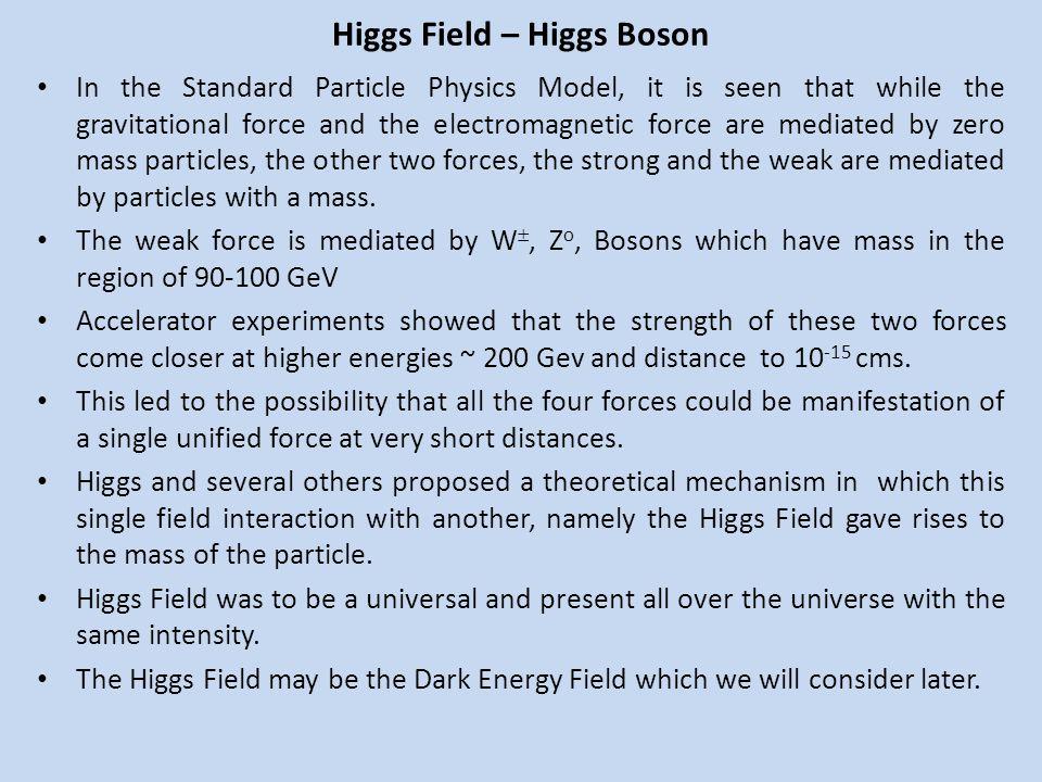 Higgs Field – Higgs Boson