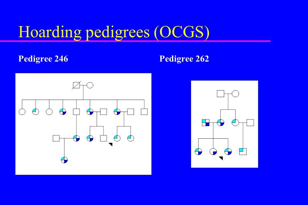 Hoarding pedigrees (OCGS)