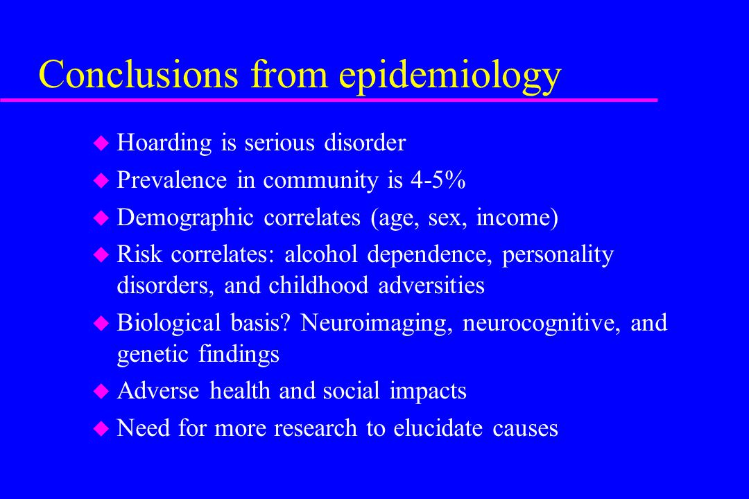 Conclusions from epidemiology