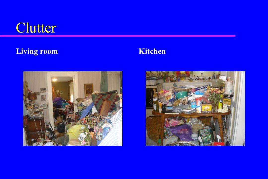 Clutter Living room Kitchen