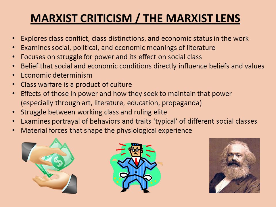 MARXIST CRITICISM / THE MARXIST LENS