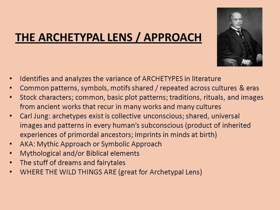 THE ARCHETYPAL LENS / APPROACH
