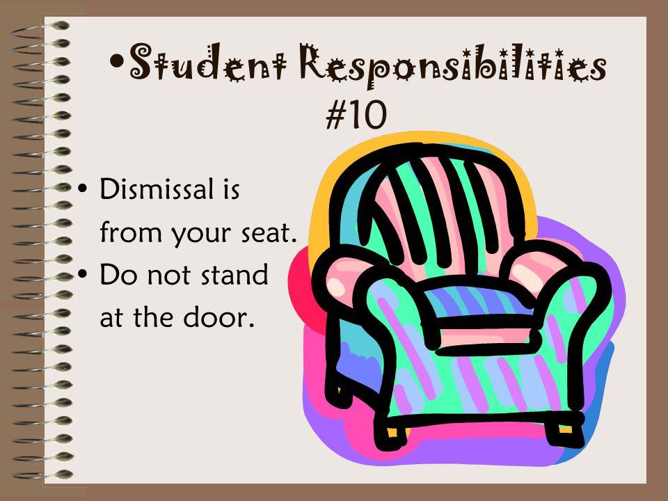 Student Responsibilities #10