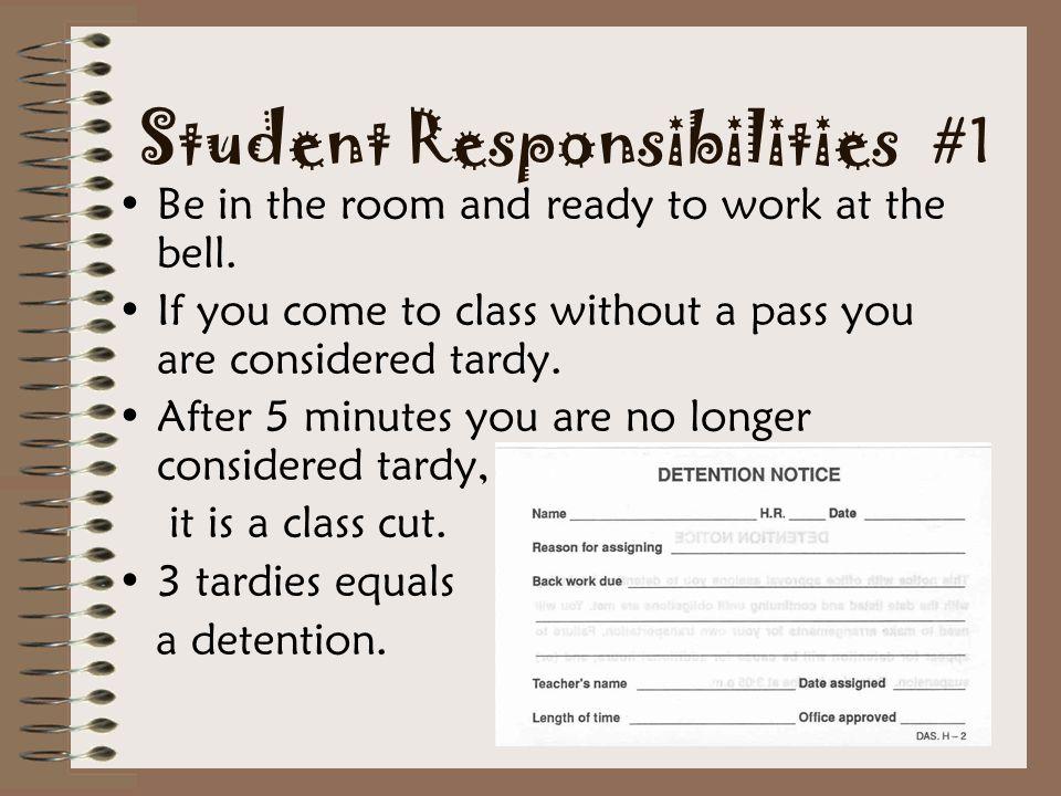 Student Responsibilities #1