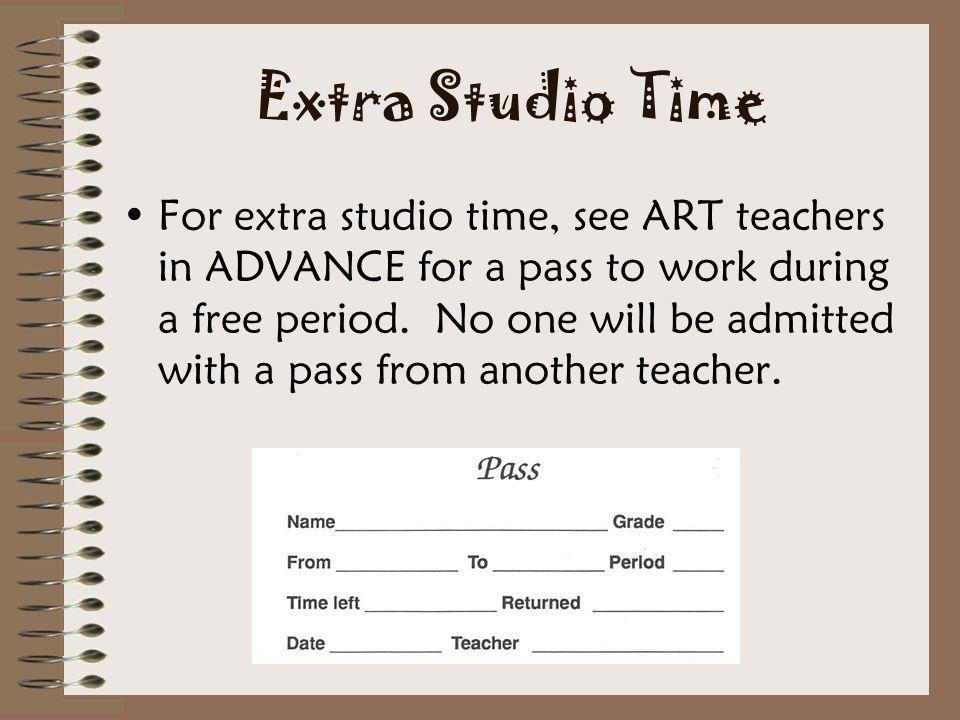 Extra Studio Time