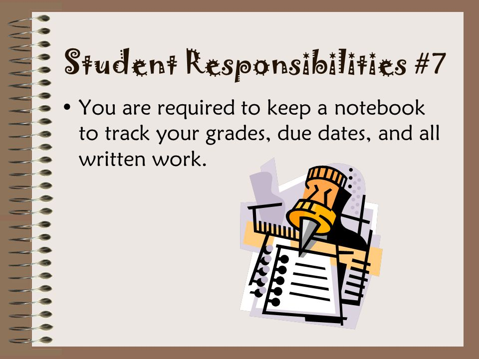 Student Responsibilities #7