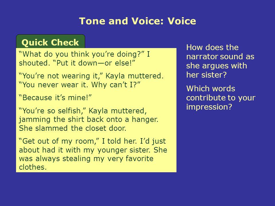 Tone and Voice: Voice Quick Check